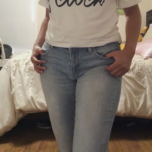 American Eagle Outfitters Light Blue Skinny Jeans